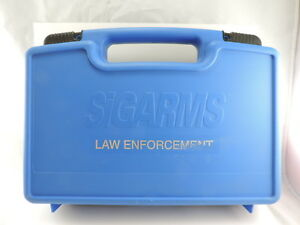 Sigarms Factory Blue Plastic Pistol Hard Case Marked Law Enforcement 13.5x10x3.5