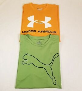 Under Armour Loose Mens Charged Cotton large & Puma dry fit large EUC