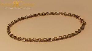 Unisex 26 inch Oval Link Chain Cast 9ct Gold Fully hallmarked 8 x 7 mm 92g
