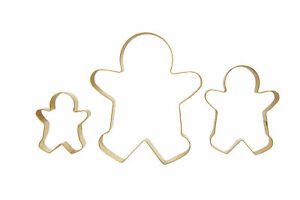 Costello 3 Piece Gingerbread Man Stainless Steel Cookie Cutter Set