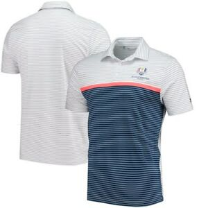 Under Armour 2018 Ryder Cup Playoff Super Stripe Performance Polo - WhiteNavy
