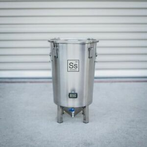 Ss Brewtech Brew Bucket Stainless Conical Fermenter 7 Gallon, Brewmaster Edition
