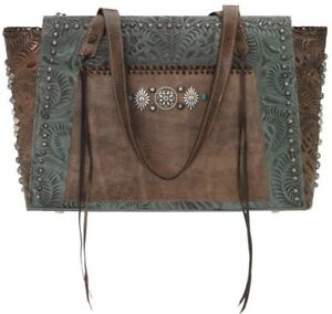 NWT! AmEriCAN WeSt Turquoise RIO GRANDE ZIP TOP Leather Handbag! 12 OFF Of $198