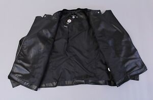 Boohoo Women's Plus Eliza Quilted Faux Leather Biker Jacket SI4 Black Size US:18