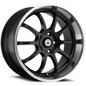 Konig Lightning 14x6 4x1004x114.3 (4x4.5) +38mm Black Wheels Rims LI46D04385
