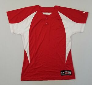UNDER ARMOUR Mens Stock Baseball Jersey  RedWhite Sz Md  NEW