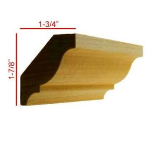 Colonial Crown Molding 3 4quot; x 2 5 8quot; Unfinished Solid Hardwood EWCR11 $5.07