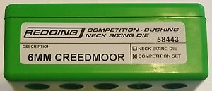 58443 REDDING TYPE-S COMPETITION BUSHING NECK DIE SET- 6MM CREEDMOOR - NEW