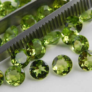 Wholesale Lot 3x3mm-10x10mm Round Faceted Cut !! Natural PERIDOT Loose Gemstones