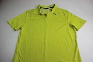 Nike Yellow Camo Dry Fit POLO SHIRT Large L
