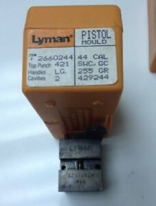 Lyman Ideal 429244 44 Caliber 2 Cavity 255 Grain Semi Wad Cutter Mold 2660244
