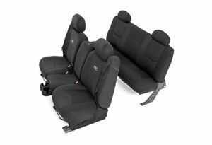 Rough Country Neoprene Front/Rear Seat Covers-Black, 99-06 Silverado 1500; 91019