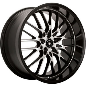 Konig Lace 16x7 4x1004x108 (4x4.25) +40mm Black Wheels Rims LA67D08405
