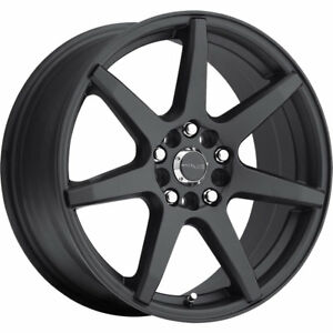 Raceline Evo 131B 15x7 4x1004x108 (4x4.25) +40mm Black Wheels Rims