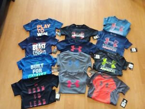 Under Armour Toddler Boys' Short Sleeve Big LogoGraphic Shirt MSRP $18-$25