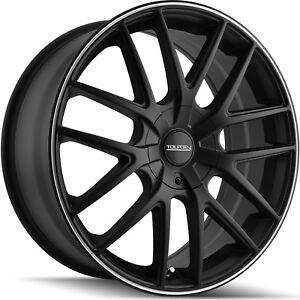 New 16 (16x7) Touren TR60 4x1004x114.3 +42mm Matte Black Wheels Rims