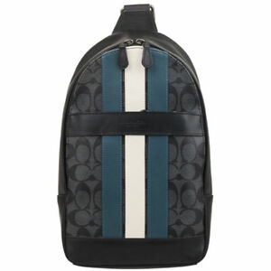 NEW MENS COACH (F26067) CHARLES SIGNATURE VARSITY LEATHER PACK BAG BACKPACK
