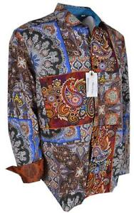 NEW Robert Graham Classic Fit KOSTER Embroidered Paisley LTD Edition Sport Shirt
