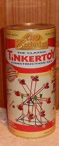 ToysRUs Exclusive CLASSIC TINKERTOY CONSTRUCTION SET FERRIS WHEEL Real Wood RARE