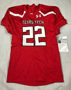 UNDER ARMOUR MENS LARGE TEXAS TECH #22 STOCK VORTEX FOOTBALL JERSEY $85