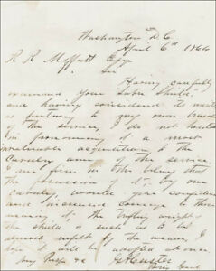 GEORGE ARMSTRONG CUSTER - AUTOGRAPH LETTER SIGNED 04061864