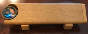 Wood & Brass Kaleidoscope on Stand by Henry Bergeson Signed 1995