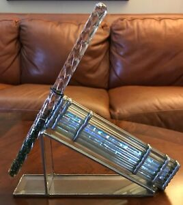 Beautiful Vintage Glass Kaleidoscope On Stand