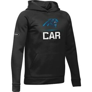 Carolina Panthers Under Armour Youth Combine Authentic Lockup Armour Hoodie -