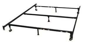 7-Leg Heavy Duty Metal Queen Size Bed Frame with Center Support