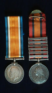Original British Medal Group to One Soldier South Africa and WW1 Lancer