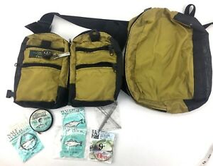 Orvis Fly Fishing Tackle Chest Fanny Bag Waist Pack Backpack w Supplies
