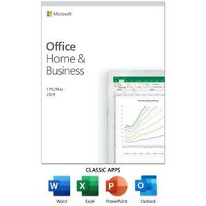 Microsoft Office Home And Business 2019 for 1 User  - For Windows or Mac - Windo