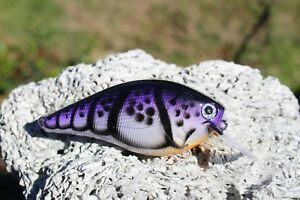 Custom painted 2.5 Square bill crank bait lures fishing bass tackle