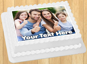 Edible Cake Topper Image Your personalized PHOTO Wafer Paper Sheet 8x10.5quot;