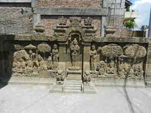 Stone Carving Wall 20 feet ( Large Piece) architectural pieces one of a kind