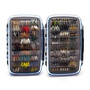 180 pcs Wet Dry Nymph Fly Fishing Flies Lure Kit hand tied Flies for Trout Pike