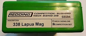 58594 REDDING TYPE-S COMPETITION BUSHING NECK DIE SET- 338 LAPUA MAG - NEW