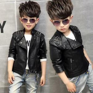 Jackets For Boys And Girls Leather Punk Stylish Fashionable Coat Spring Clothing