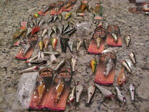 huge lot poe rc1 rc3 cedar crankbait lures mostly loose but new  wordens lures..