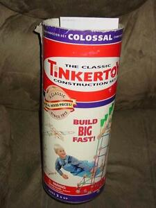 The Classic TINKER TOY COLOSSAL Construction Set - Large Size Real Wood #142 Pcs