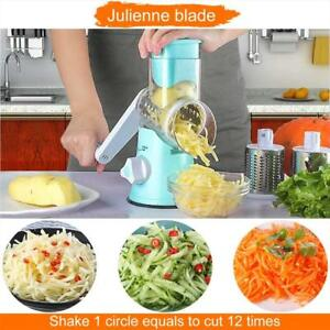 Manual Hand Round Mandoline Slicer Vegetable Potato Carrot Cutter Cheese Kitchen