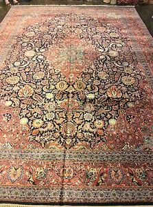 Large Persian Kashmiri Silk. Rug 11#x27;10quot; x 17#x27;10quot; Hand Knotted in India. $3675.00