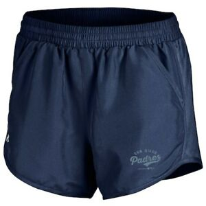 San Diego Padres Under Armour Women's Fly By Performance Running Shorts - Navy