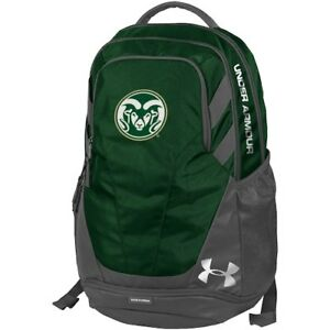 Colorado State Rams Under Armour Hustle 3.0 Performance Backpack - Green