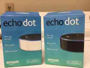 New Amazon Echo Dot 2nd Generation w Alexa Voice Media Device black white