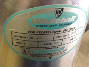 Whitehall JO 400 Motor Pump for Hydrotherapy fits tank F 270 S and F 425 S $799.00
