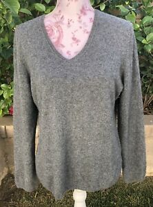 Craft Cutter Fabric Cashmere Sweater  Charter Club Gray 2-ply 100% Cashmere XL
