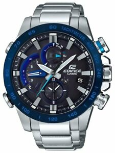 Casio EDIFICE EQB800DB-1A Smartphone Link Solar Power Stainless Steel Mens Watch