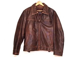 Wilsons VTG distressed brown leather