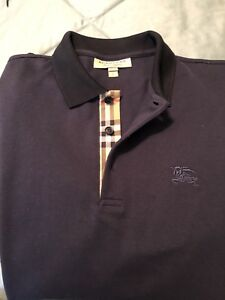 burberry polo large long sleeve